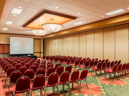 Conference Room Seating and Media Screen