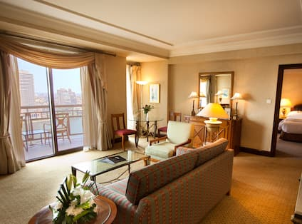 Spacious Executive Suite Living Room