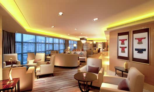 Executive Lounge Area with Large Windows