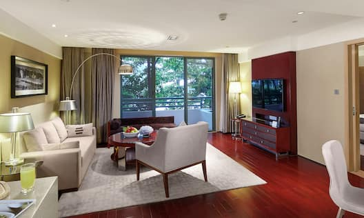 Apartment Living Room- Balcony View