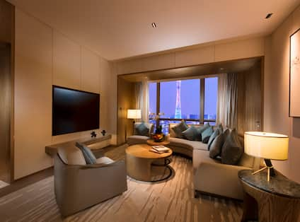Executive Suite Wall Mounted TV Living Room