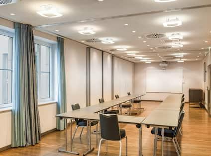 Hotel Meeting Space - U Shape Table Set Up