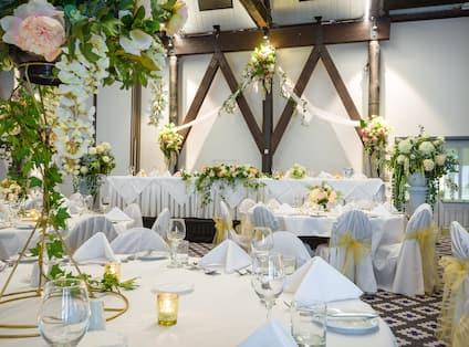 Great Hall setup for wedding
