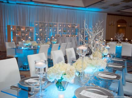 Blue Wedding Setup