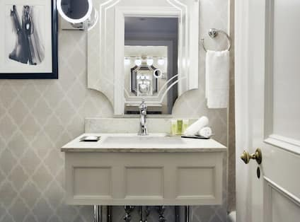 Guest Bathroom with Mirror and Vanity