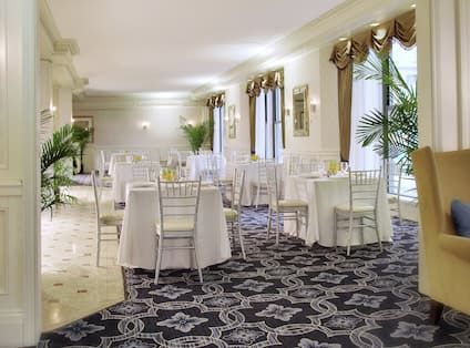 Set Tables in Camellia Dining Room