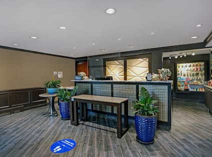 lobby front desk and snack shop