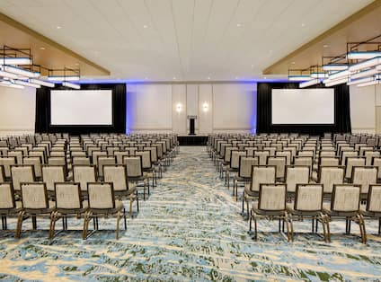 Large meeting room with chairs