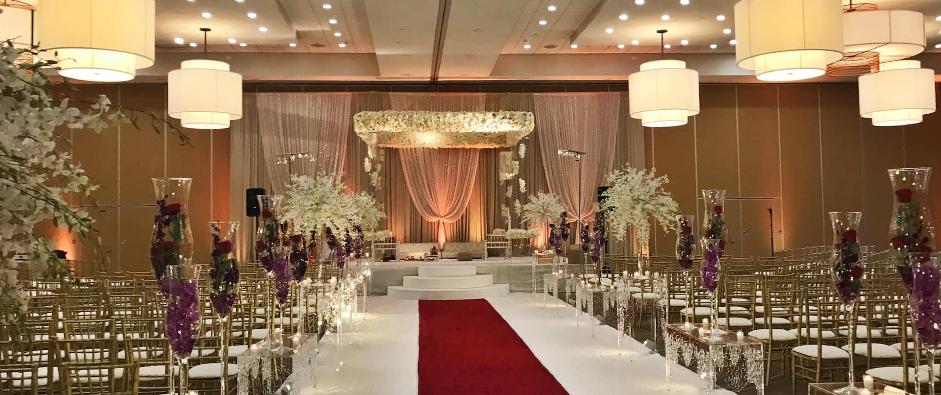Hall Setup for a Wedding