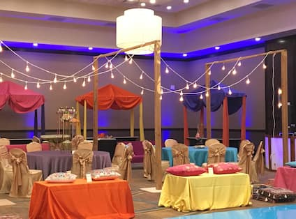 Event Space Decorated for Occasion