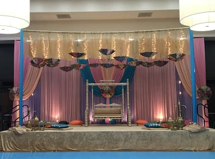 Hall Decorated for Event