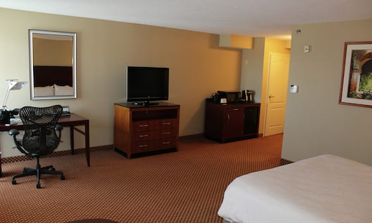 Accessible Room with King Sized Bed Desk and TV