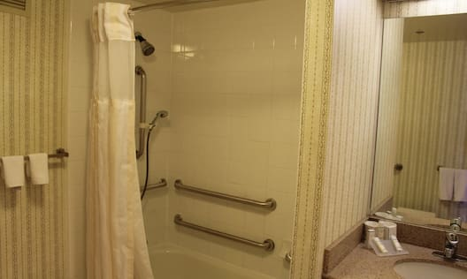 Accessible Bathroom with Tub and Grab Bars