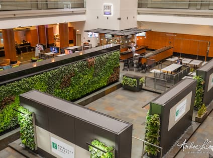 Sky Garden Lobby Area with Living Plant Walls
