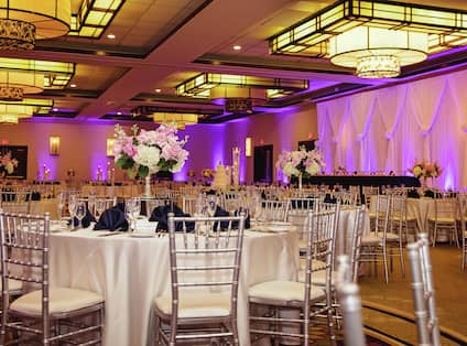 Banquet Hall set up for wedding reception
