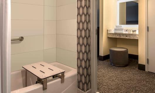 ADA bathroom with tub