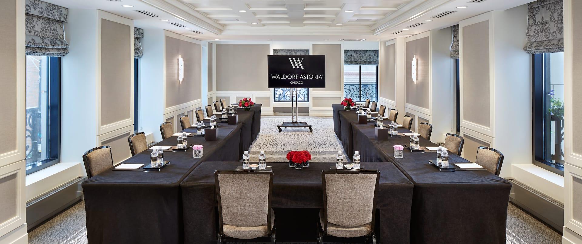 Alcott U Shape Table Layout Meeting Room