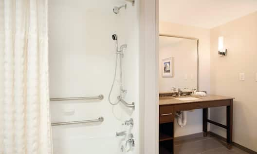 Homewood Suites Charlottesville Acessible Bathroom and Shower