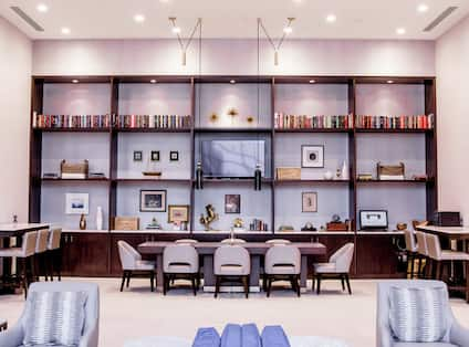 Lobby Library and Lounge Area