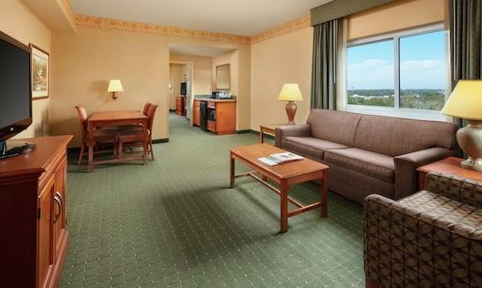 Two Room Corner Premium Suite Living Area