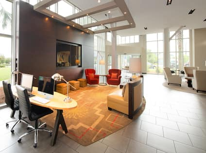 Business Center Computers in Lobby for Guests Use