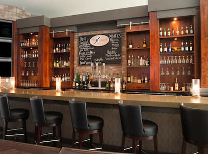 Full Service Bar with Counter Seating