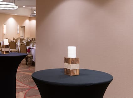 Standing Cocktail Tables in Meeting Room