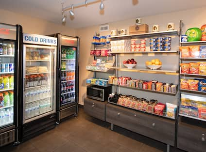 Snack Shop with Cold Cases and Microwave