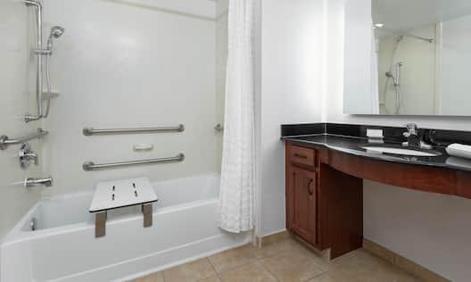 Accessible Bathtub and Vanity