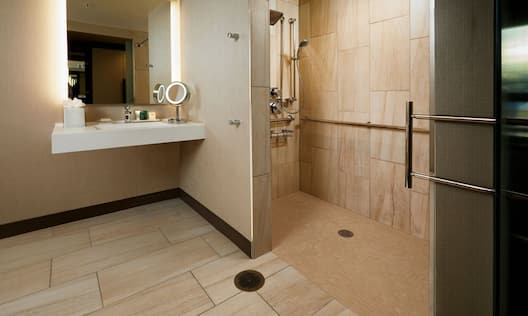 ADA Bathroom with Roll-In Shower