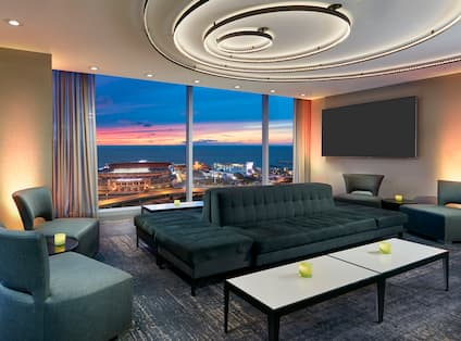 Bar Lounge With City View