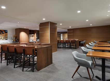 Executive Lounge With Food Station