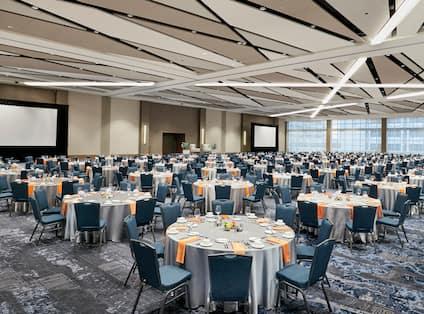 Ballroom In Banquet Setup
