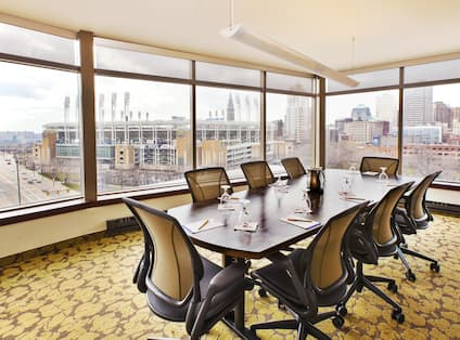 Formal Meeting Room with City View