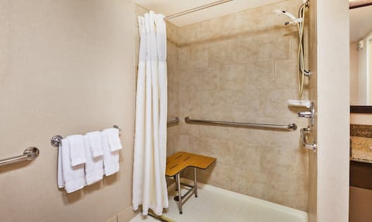 Roll In Shower with Handrails