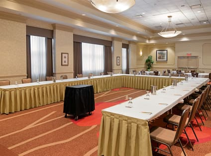 Ballroom with Large U-Shaped Conference Table