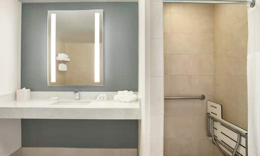 Accessible Suite Bathroom With Roll In Shower
