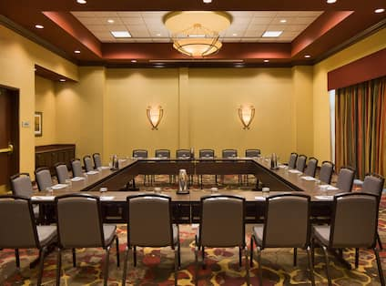 Meeting Room with Square Table