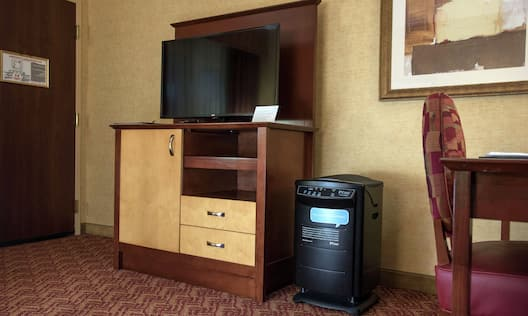 Accessible Suite with Television and Work Desk