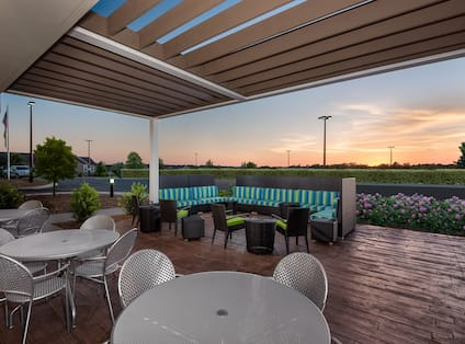 Outdoor Patio at Twilight