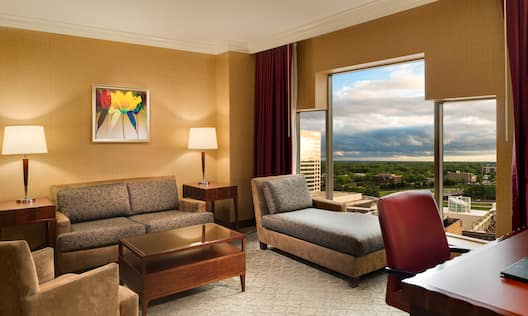Living Area of King Executive Jr. Suite