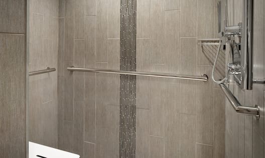 Accessible Bathroom Roll-In Shower with Bench