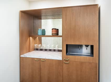 Cabinets with glasses