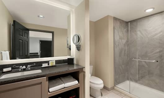 Studio Suite Bathroom with Walk-in Shower