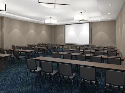 Meeting and Conference Space with Classroom Style Setup