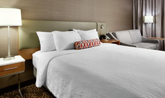 One King Bed Guest Bedroom with Sofa