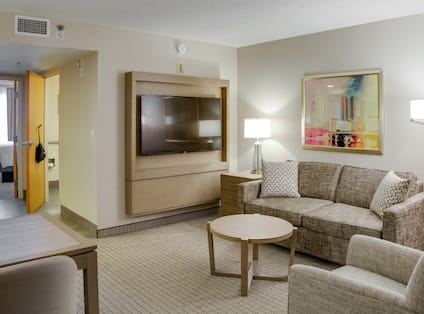 King Suite Living ARea with TV