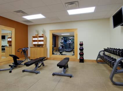Fitness Center Weight Benches Dumbbell Weights