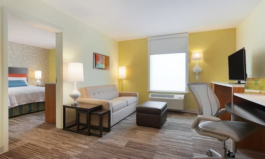 1 Queen 1 Bedroom Suite  Living Area