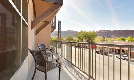 Guest Room Balcony with Scenic Moab View